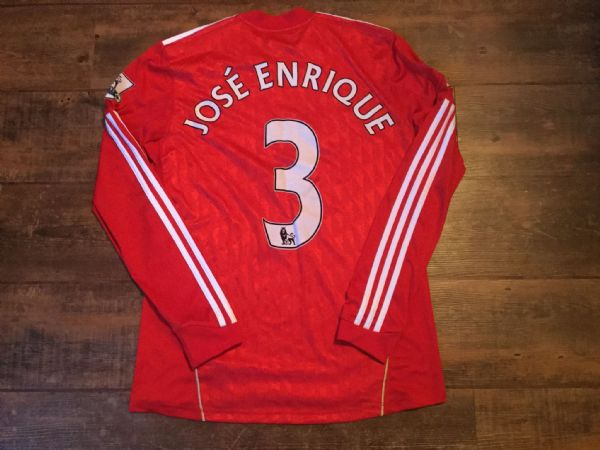 2011 2012 Liverpool L/s Jose Enrique Football Shirt Adults Medium